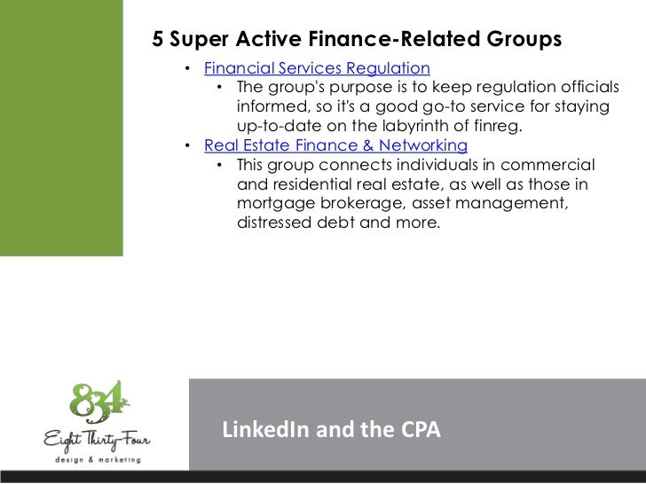 5 Super Active Finance-Related Groups  • Financial Services Regulation      • The groups purpose is to keep regulation off...