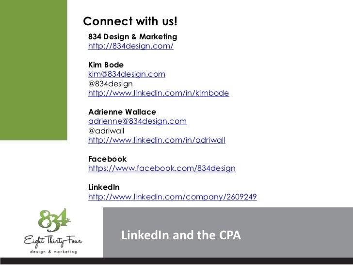 Connect with us!834 Design & Marketinghttp://834design.com/Kim Bodekim@834design.com@834designhttp://www.linkedin.com/in/k...