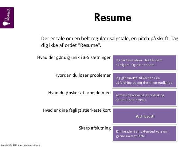 Hvad er et resume