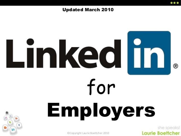 Updated March 2010<br />for Employers<br />