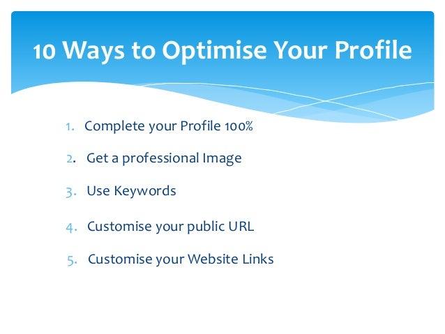 10 Ways to Optimise Your Profile  I do logistics better than UPS  LinkedIn Expert & Author: LinkedIn Marketing Hour a Day ...