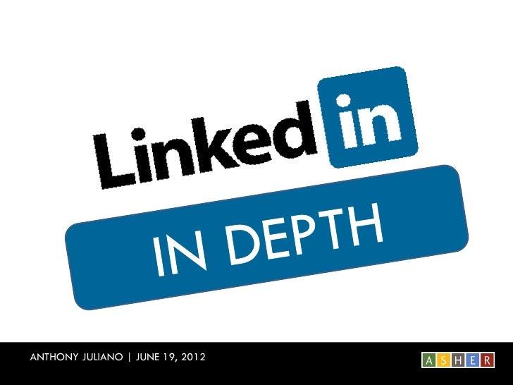 ANTHONY JULIANO | JUNE 19, 2012