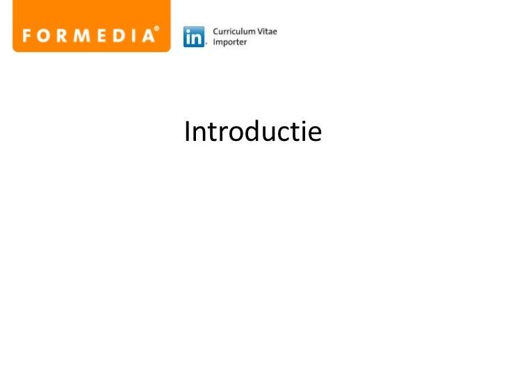 Introductie<br />