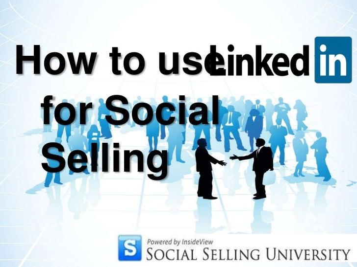 for Social Selling<br />