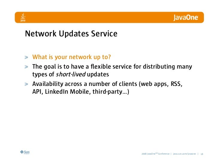 Network Updates Service   What is your network up to?  The goal is to have a flexible service for distributing many  types...