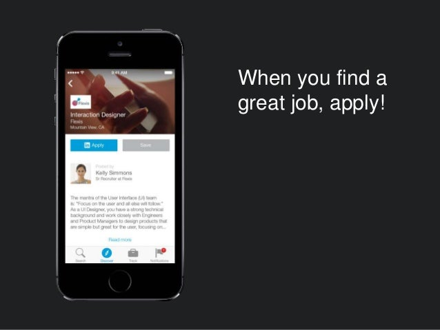 When you find a great job, apply!