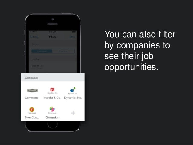 You can also filter by companies to see their job opportunities.