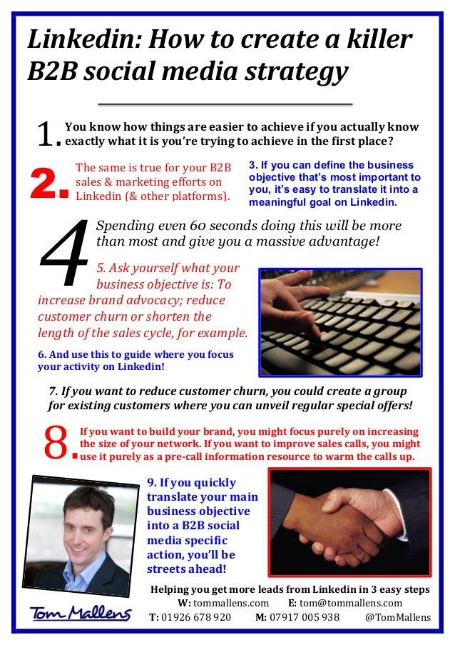 Linkedin:  How  to  create  a  killer   B2B  social  media  strategy            You  know  h...