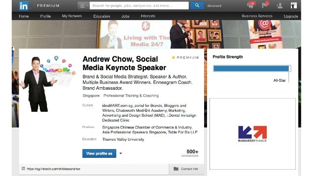 Linkedin Marketing through Personal Profile & Company Page by Andrew Chow Slide 2