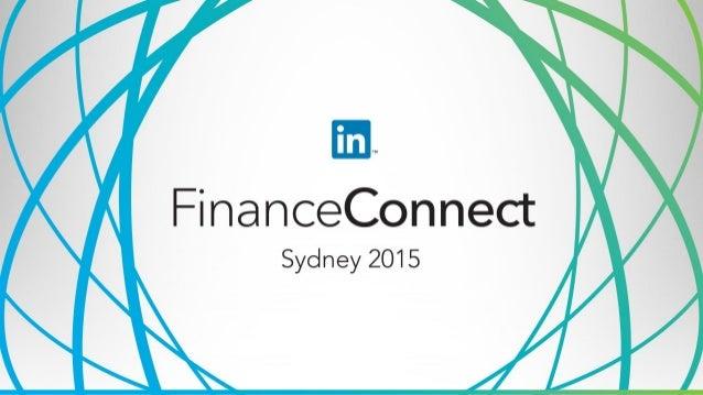 Insights & Highlights from FinanceConnect NYC Jennifer Grazel Director, Global Vertical Marketing LinkedIn
