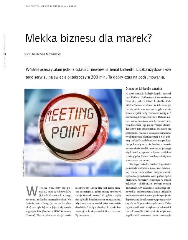 marketing w praktyce  58  czerwiec 2014  1$5=}'=,$ MEKKA BIZNESU DLA MAREK?  0HNNDEL]QHVXGODPDUHN  W Polsce notujemy juz p...