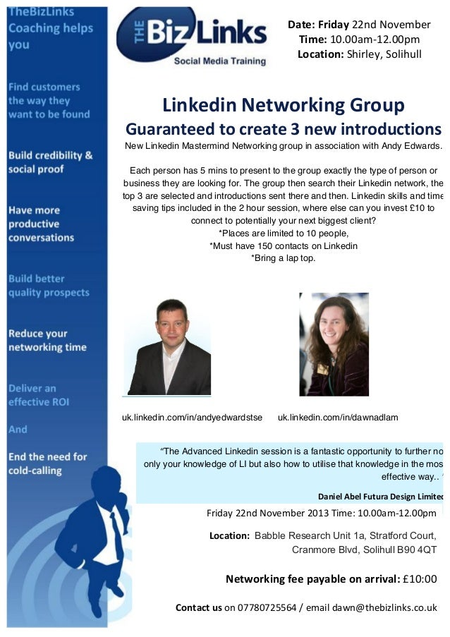 Date:  Friday  22nd  November   Time:  10.00am-‐12.00pm   Location:  Shirley,  Solihull           L...