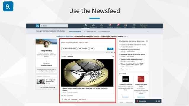 Use the Newsfeed 9.