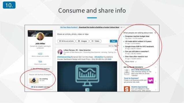 Consume and share info 10.