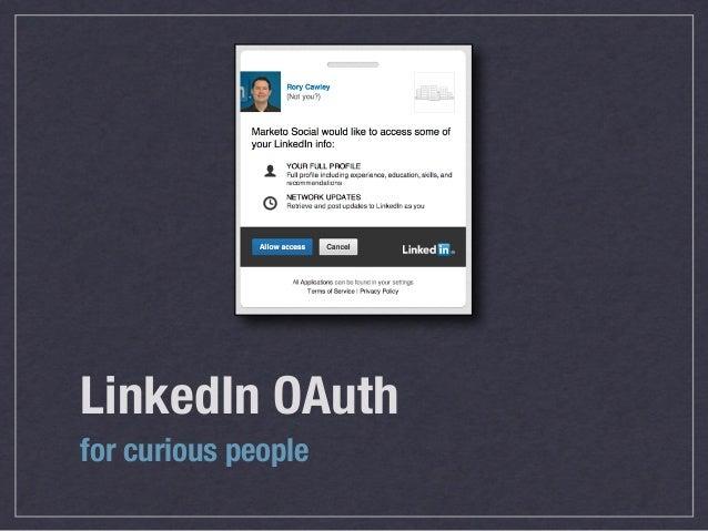 LinkedIn OAuthfor curious people