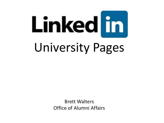 University Pages  Brett Walters Office of Alumni Affairs