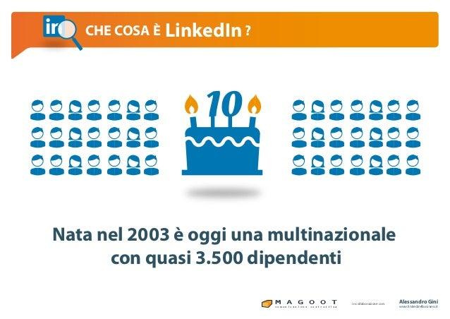 Linkedin per il business che cosa è linkedin Slide 3