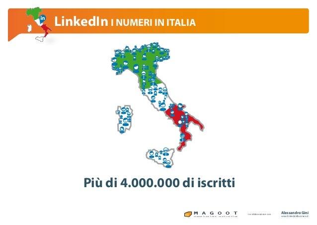 Linkedin per il business linkedin i numeri in italia Slide 2