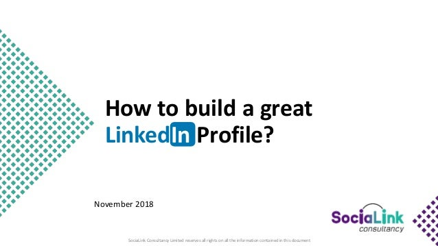 How to build a great LinkedIn personal profile