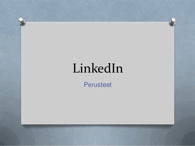 LinkedIn Perusteet