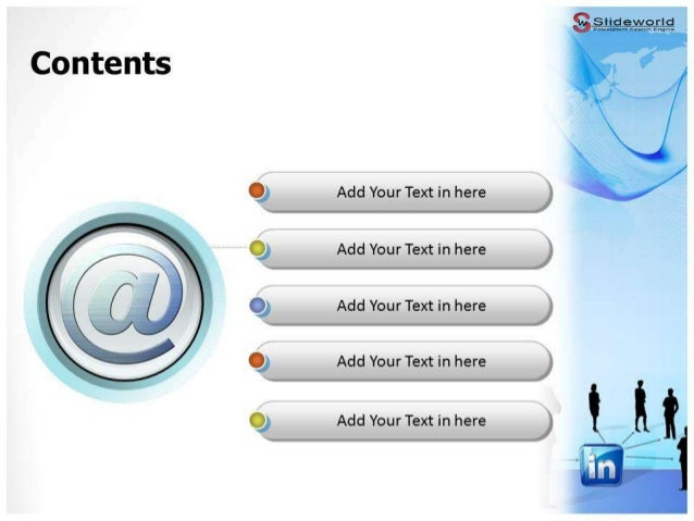 Linkedin powerpoint template slideworld toneelgroepblik Choice Image