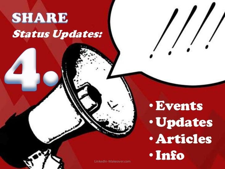 Status Updates:                                     • Events                                     • Updates                ...