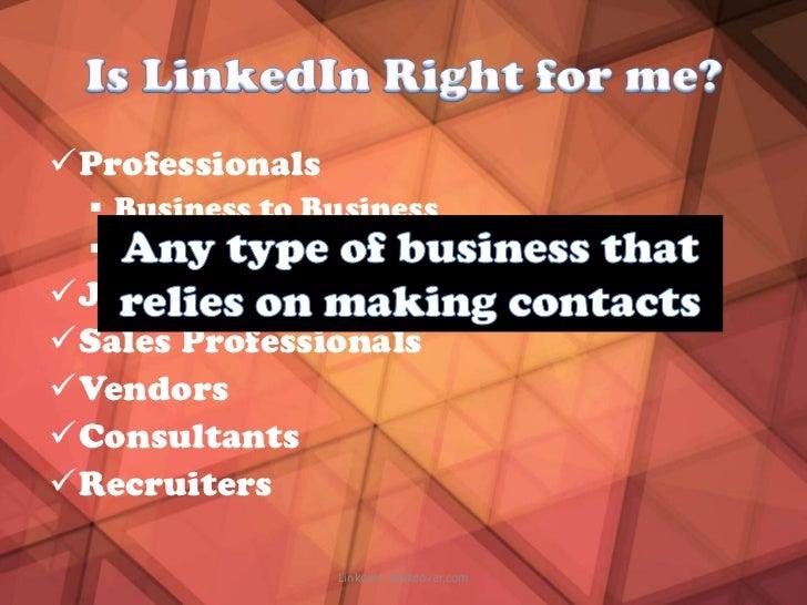 Professionals   Business to Business   Business to ConsumerJob SeekersSales ProfessionalsVendorsConsultantsRecruit...