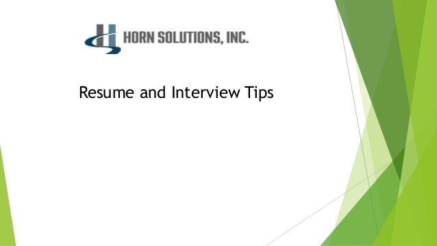 resume and interview tips 1 638jpgcb1452706766 - Resume And Interview Tips