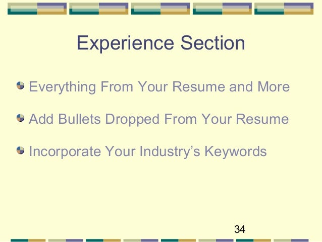 Experience Resume Bullets Or Sentence
