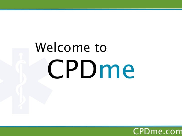 Welcome to CPDme             CPDme.com