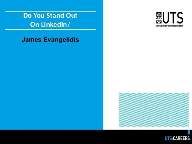 Do You Stand Out On LinkedIn? James Evangelidis