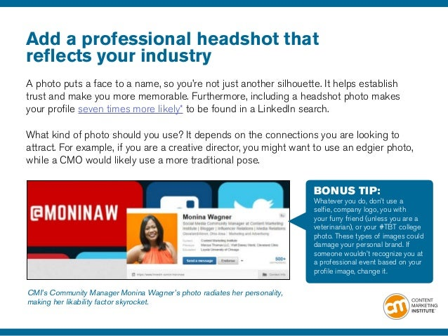 21 LinkedIn Profile Tips to Advance Your Content Marketing ...