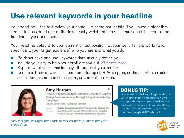 21 linkedin profile tips to advance your content marketing