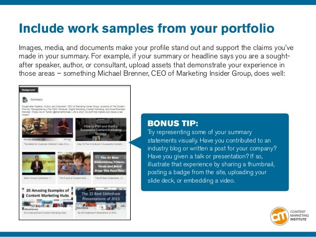 21 LinkedIn Profile Tips to Advance Your Content Marketing Career