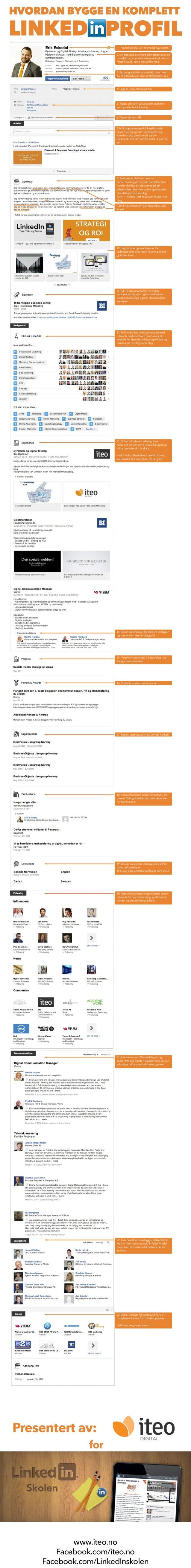Hvordan bygge en komplett LinkedIn profil