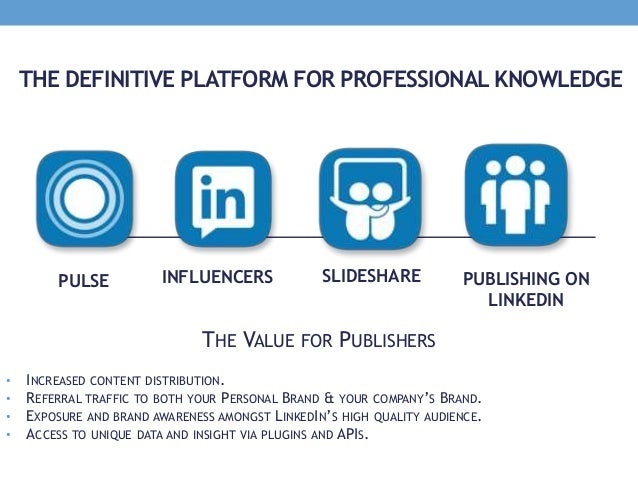 THE DEFINITIVE PLATFORM FOR PROFESSIONAL KNOWLEDGE THE VALUE FOR PUBLISHERS • INCREASED CONTENT DISTRIBUTION. • REFERRAL T...