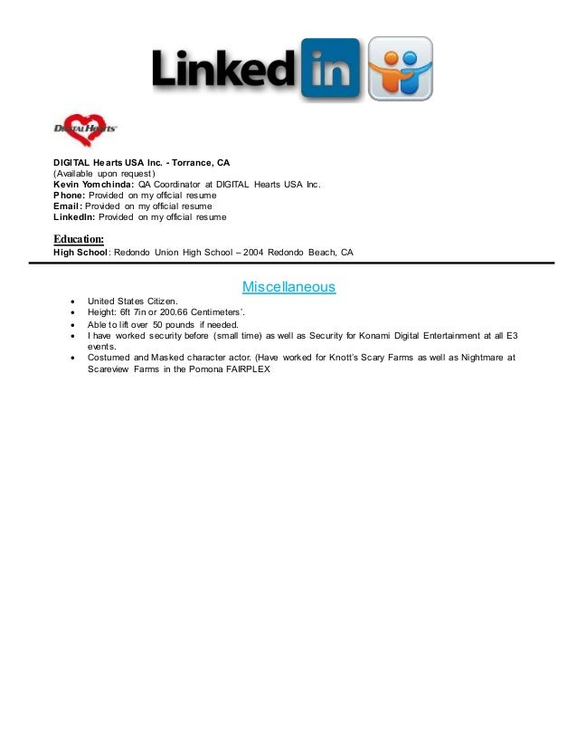 linkedin qa resume 03 03 2016