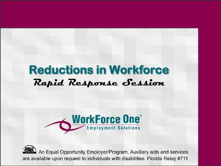 Reductions in WorkforceRapid Response Session