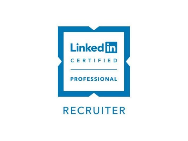 Linked in recruiter certified