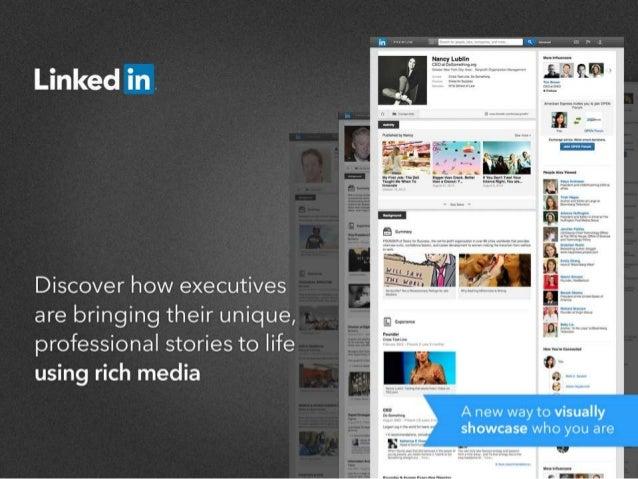 Executives Using Rich Media on LinkedIn