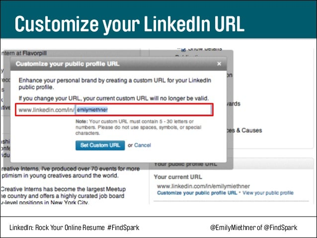 linkedin  rock your online resume
