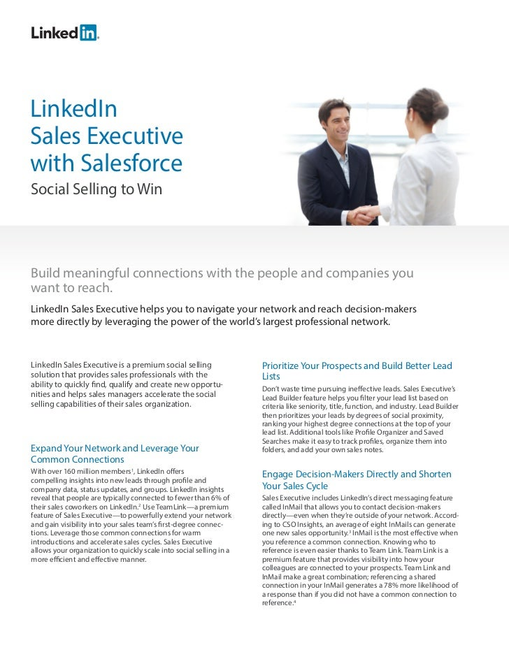 LinkedInSales Executivewith SalesforceSocial Selling to WinBuild meaningful connections with the people and companies youw...