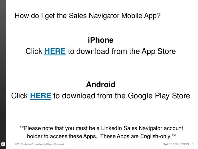LinkedIn Sales Navigator Mobile iPhone and Android
