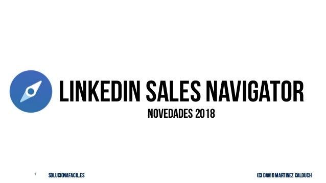 solucionafacil.es (C) David Martinez Calduch1 LinkedIN Sales Navigator Novedades 2018