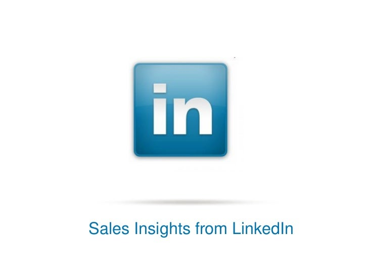 Sales Insights from LinkedIn