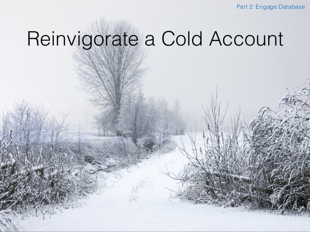Reinvigorate a Cold Account Part 2: Engage Database