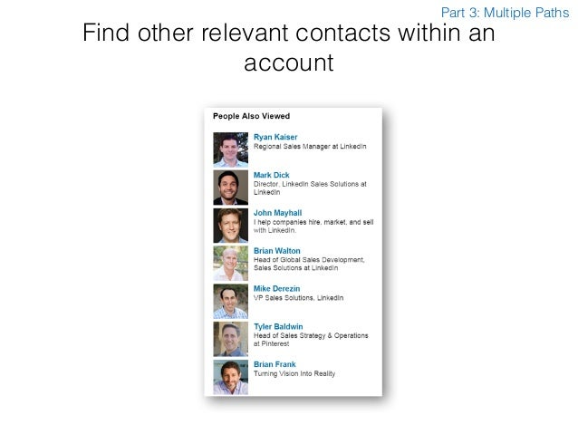 Find other relevant contacts within an account Part 3: Multiple Paths