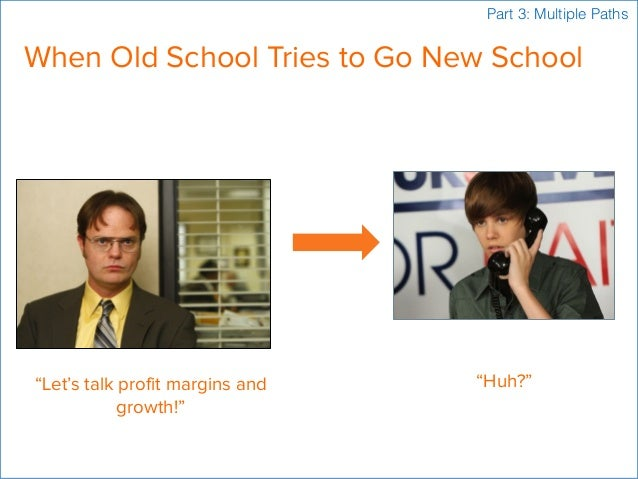 """When Old School Tries to Go New School """"Let's talk profit margins and growth!"""" """"Huh?"""" Part 3: Multiple Paths"""