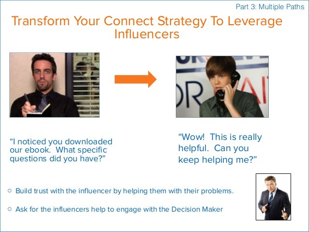 """Transform Your Connect Strategy To Leverage Influencers """"I noticed you downloaded our ebook. What specific questions did y..."""