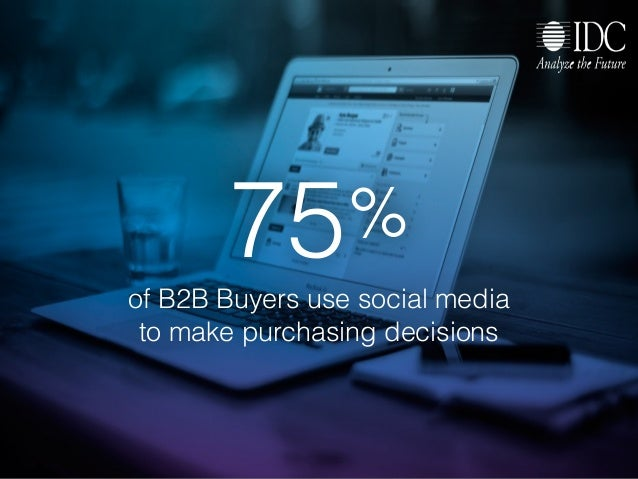 75% of B2B Buyers use social media to make purchasing decisions